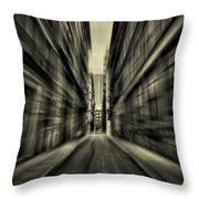 Streets Of Madness Throw Pillow