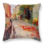 Streets Of Old Cannes Throw Pillow