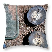 Streets Of Tombstone 9 Throw Pillow