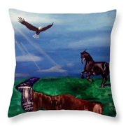 Strenght And Flight Throw Pillow