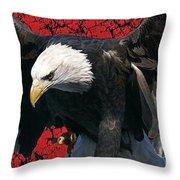 Strength Of America Throw Pillow