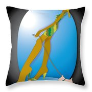Stride -3 Throw Pillow by Brenda Dulan Moore