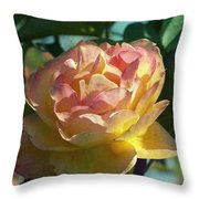 Strike It Rich Rose Throw Pillow