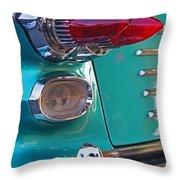 Striking Tail Lights Throw Pillow