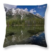 String Lake Panorama Throw Pillow