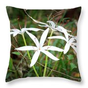 String Lily Throw Pillow