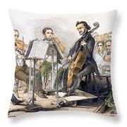 String Quartet, 1846 Throw Pillow