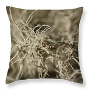 Stringy Lichen Throw Pillow