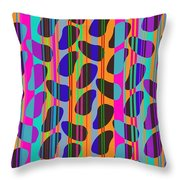 Stripe Beans Throw Pillow