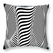 Striped Water 2 Throw Pillow