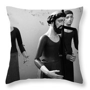 Stripped Saints Throw Pillow