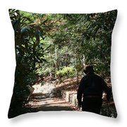 Stroll In The Shadows Throw Pillow