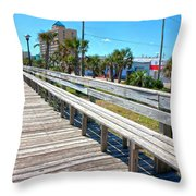 Strolling Along Throw Pillow by Betsy Knapp