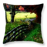 Strolling Down The Old Country Road Throw Pillow