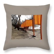 Strolling Through Central Park Throw Pillow