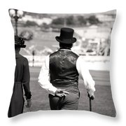 Strolling Throw Pillow