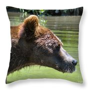 Strong Profile Throw Pillow