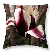 Striped Tulip Throw Pillow