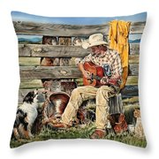 Strumm'in Hands Throw Pillow