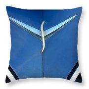 Studebaker Hood Emblem Throw Pillow