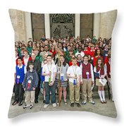 Students Catholic Schools 2007 Throw Pillow