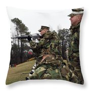 Students Practice The Fundamentals Throw Pillow by Stocktrek Images