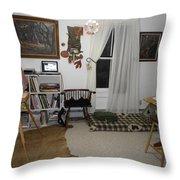 Studio - Art Work Space Throw Pillow