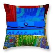 Painting Collage  II Throw Pillow
