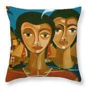 Study For Love Is Like A Bird Throw Pillow