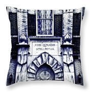 Study Of One Of The Oldest Catholic Churches In New Orleans Throw Pillow