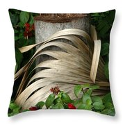 Stump And Fronds Throw Pillow