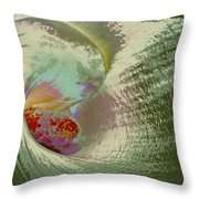 Stylized Calla Lily Throw Pillow