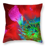 Stylized Flower Center Throw Pillow