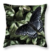 Subdued Butterfly Throw Pillow