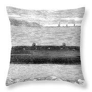 Submarine, 1852 Throw Pillow