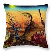 Submit As The World Burns Throw Pillow