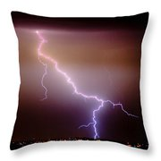 Subsequent Electrical Transfer Throw Pillow