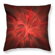 Subtle Aura-fractal Art Throw Pillow