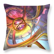 Subtlety Abstract Throw Pillow