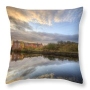 Suburban Sunrise Reflection  Throw Pillow