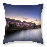 Suburban Sunset 3.0 Throw Pillow