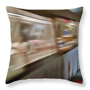 Subway Blur Throw Pillow