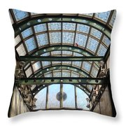 Subway Glass Station Throw Pillow
