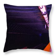 Subway Silence Throw Pillow by Gwyn Newcombe