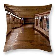 Subway Tunnel Throw Pillow