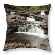 Sucker River Falls 2 A Throw Pillow