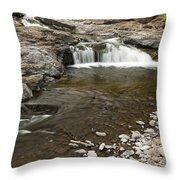 Sucker River Falls 2 E Throw Pillow