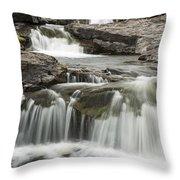 Sucker River Falls 2 F Throw Pillow