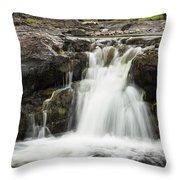 Sucker River Falls 2 J Throw Pillow
