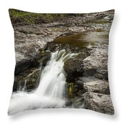 Sucker River Falls 2 N Throw Pillow